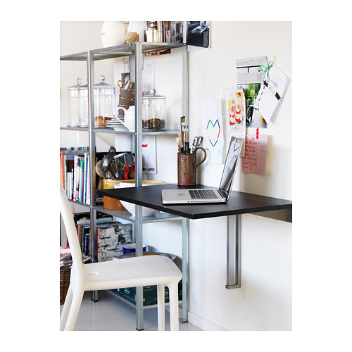 Ikea laptop workstation gadget wisdom - Wall mounted kitchen table ikea ...